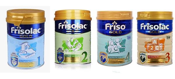 Các loại sữa Friso