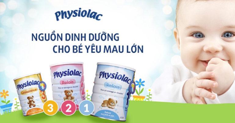 Thương hiệu sữa Physiolac