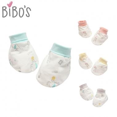 Bao chân sơ sinh Bibo's sợi tre hình thú xinh xắn