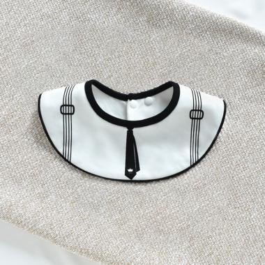 Yếm sơ sinh cà vạt WD đen trắng