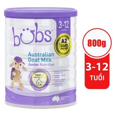Sữa dê Úc Bubs số 4  800g ( 3- 12 Tuổi)
