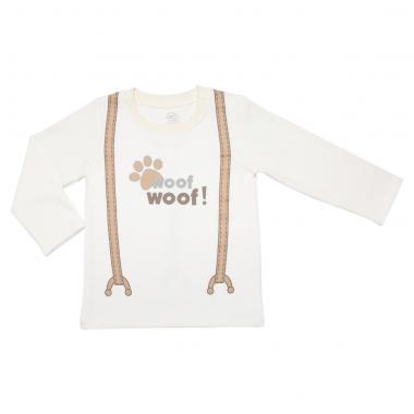 Áo dài tay cài vai bé trai Bibo's quai đeo Woof Woof