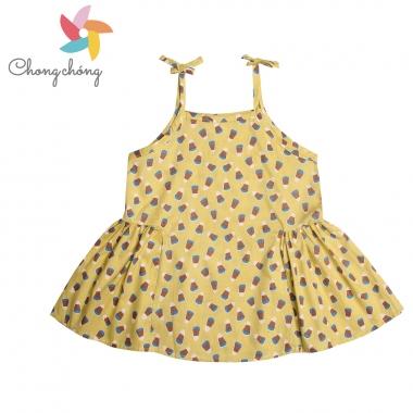 Áo hai dây bé gái Chong Chóng in hình vàng