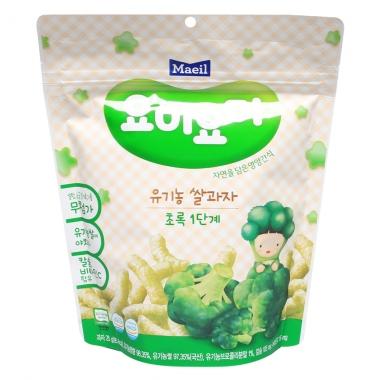 Bánh gạo Organic Maeil Yummy Yummy Green B1 25g (Từ 7 tháng)