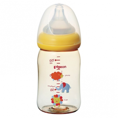 Bình sữa Pigeon SofTouch Plus PPSU thú cưng 160ml