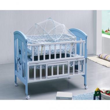 Cũi gỗ trẻ em SK 520 màu xanh