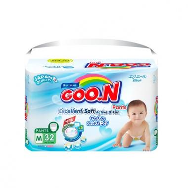Bỉm - Tã quần Goon Renew Slim size M - 32 miếng (Cho bé 7 - 12kg)