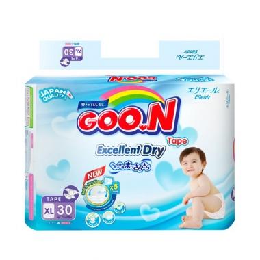 Bỉm - Tã dán Goon Renew Slim size XL - 30 miếng (Cho bé 12 - 20kg)