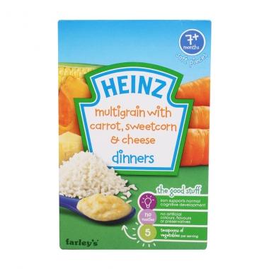 Bột ăn dặm Heinz cà rốt, phô mai, bắp ngọt nghiền 100g (Trên 7 tháng)