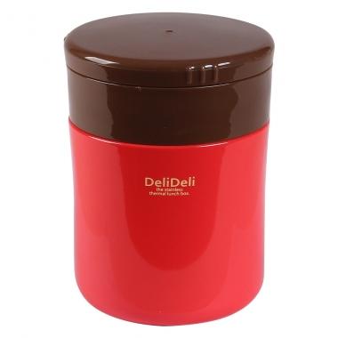 Bình ủ cháo kèm thìa Pearl Lilfe màu đỏ 400ml