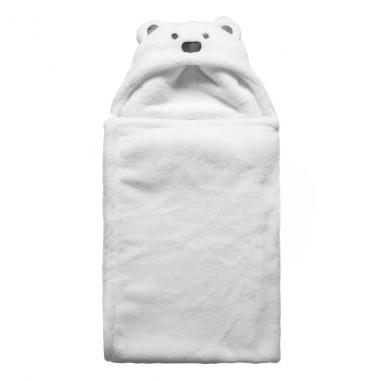 Choàng bế băng lông Minizone gấu trắng
