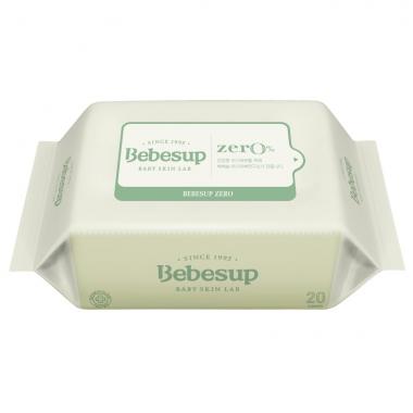 Khăn ướt Bebesup Zero có nắp 80 tờ