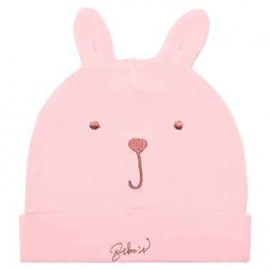 Mũ chụp Bibo's rip thỏ màu hồng nhạt