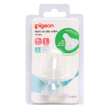 Núm ty Pigeon siêu mềm size L NV37003 (Trên 9 tháng)