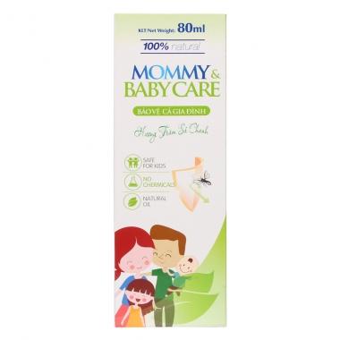 Xịt tinh dầu chống muỗi Mommy & BabyCare hương tràm sả chanh 80ml